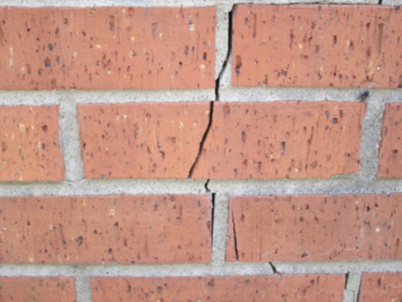 Spalled and Cracked Brick Faces